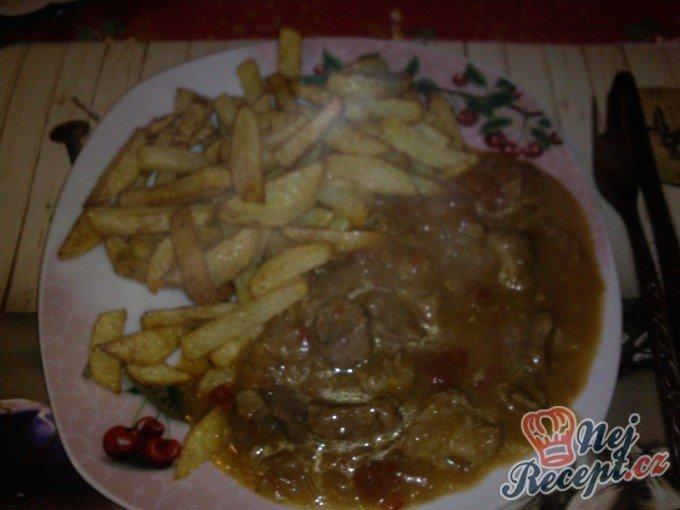 Maso po srbsku s hranolky