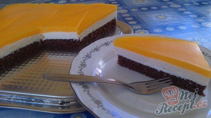 Tvarohový koláč s pomerančovou želatinou
