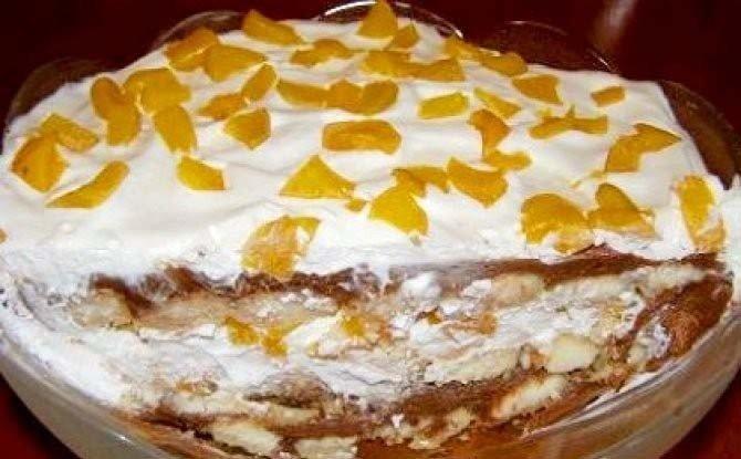 Nutelovo-meruňkový nepečený dort
