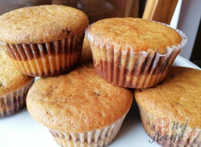 Vláčné muffiny ZEBRA