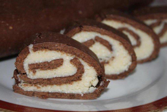 Minutková kakaová roláda s kokosem