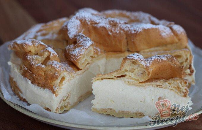 Větrníkový dort jako z cukrárny