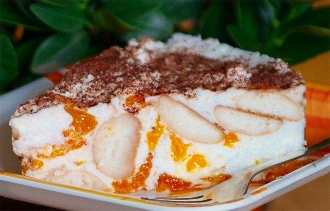 Nepečený mandarinkový dort krok za krokem