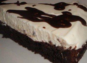 Čokoládový dort s tvarohem