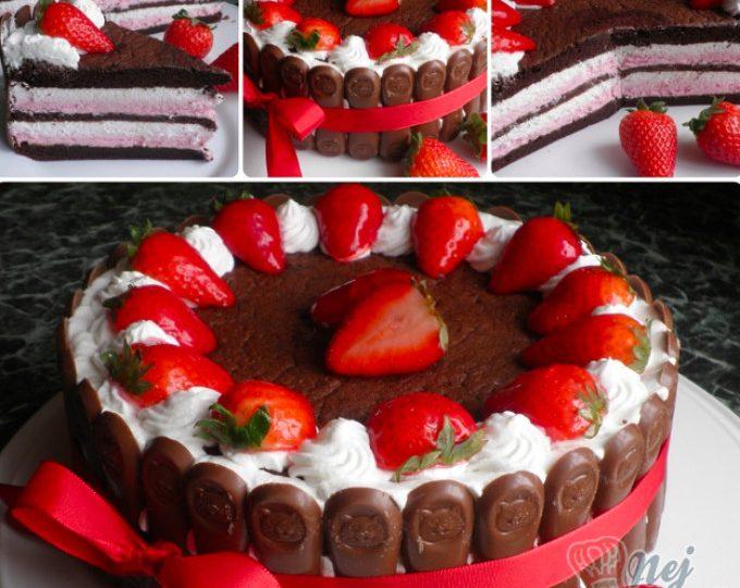 Šlehačkový dort bez mouky